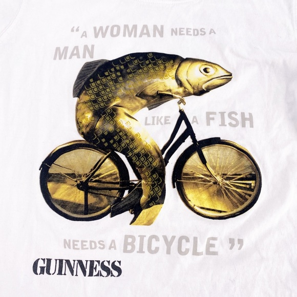 A woman needs a man like a fish needs a bicycle Up-cycled feminist messenger bag